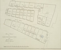 Plan of estate in Castle Street, Orange Street and Orange Court, Leicester Square